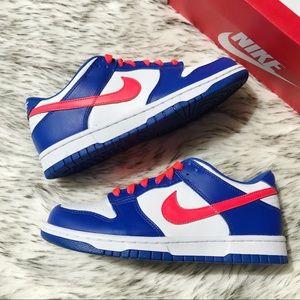 Nike Dunk Low Bright Crimson & Game Royal